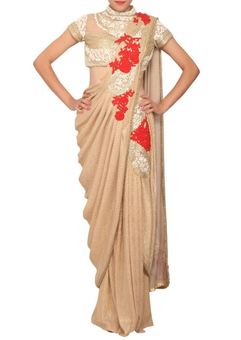 Stylish Sari Gown