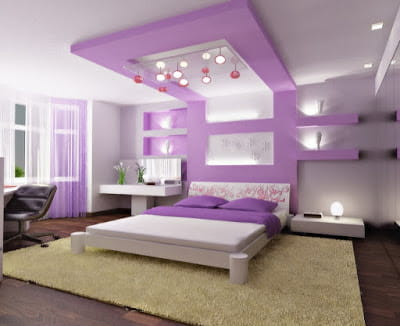 Purple-Ceiling-Design-in-Bedroom