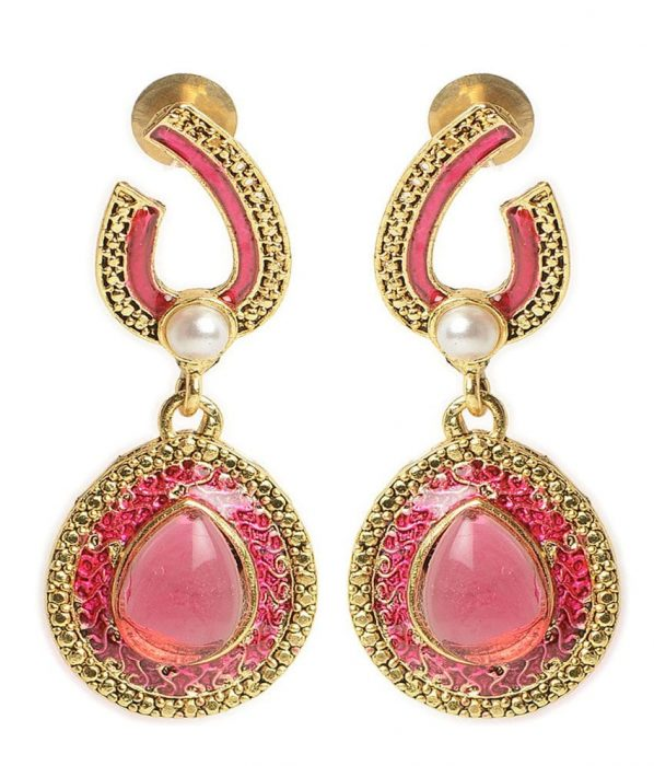 Pink Coloured Earrings