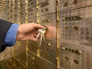 Bank locker is safe