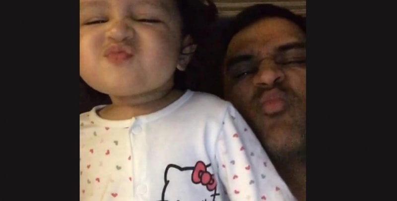 dhoni daughter