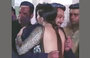 Salman khan Uncomfortable Hugging Sana Khan