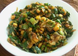 डिनर स्पेशल: हरे प्याज़ और चने दाल की सब्ज़ी