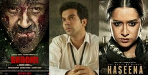 Movie Review, Bhoomi, Newton, Haseena Parkar