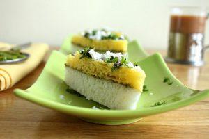 Gujarati Snacks, Sandwich Dhokla