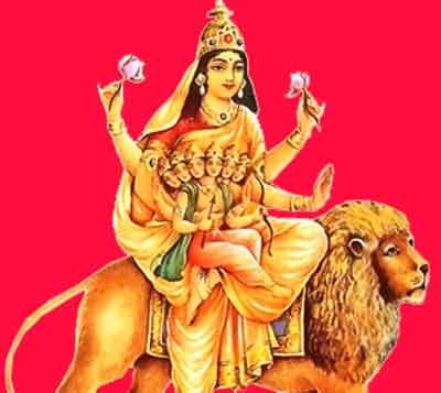 Navratri Devi Skandmata worship pujan