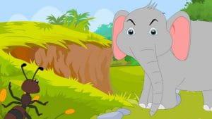 पंचतंत्र की कहानी: चींटी और घमंडी हाथी