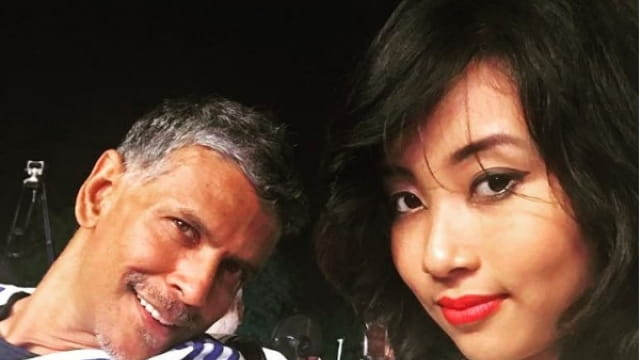 Milind Soman 18 year Old Girlfriend