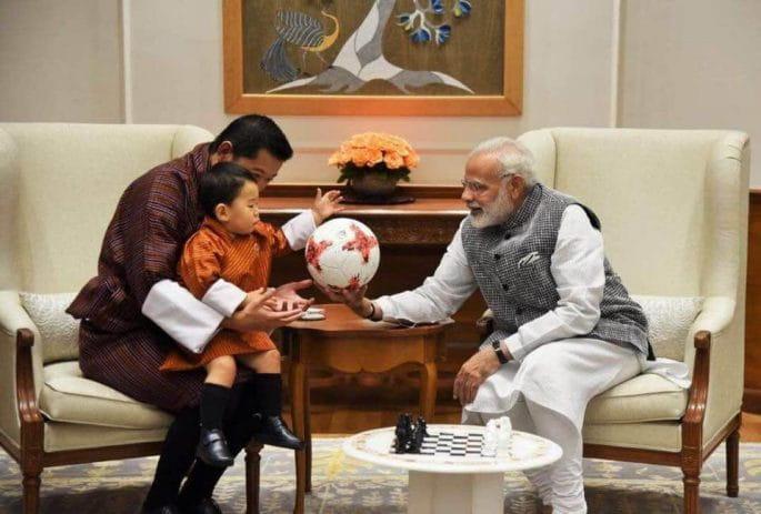 Bhutan's Royal Baby in india with narendra modi