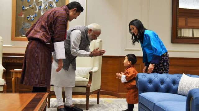Bhutan's Royal Baby in india with narendra modi