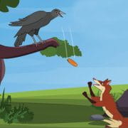चालाक लोमड़ी और मूर्ख कौआ, The Fox And The Crow