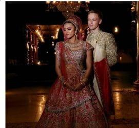 Aashka Goradia, Brent Goble wedding