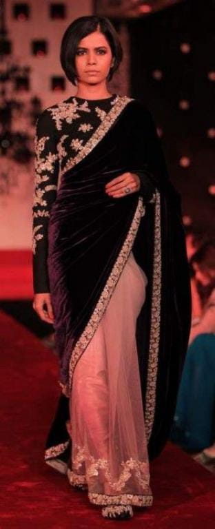 Velvet Saree Like Anushka In This Wedding Season