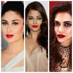 Bollywood Celebrities, Red Lipstick, makeup