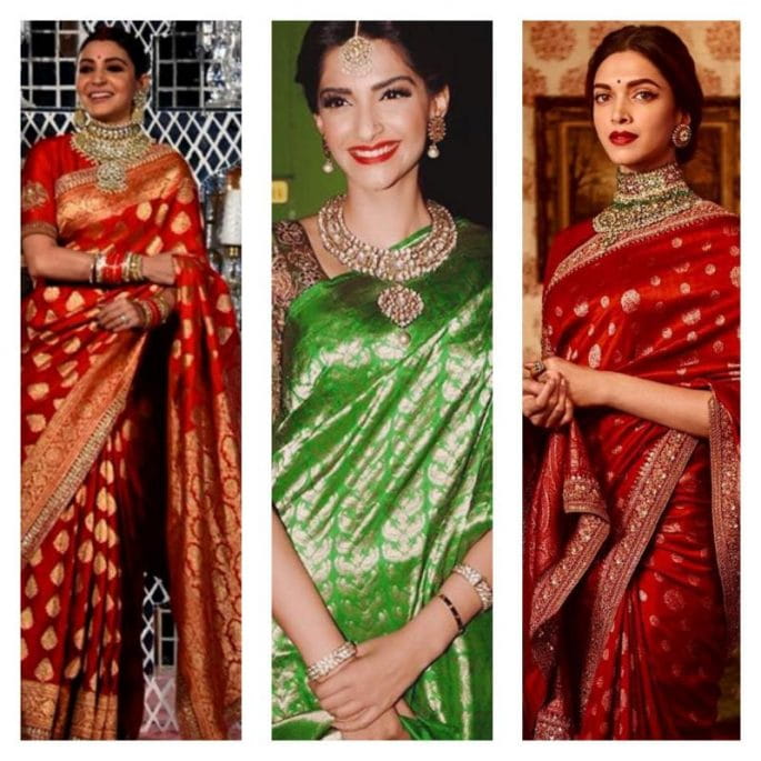 Popular Bollywood Celebrities, Traditional Banarasi Saree