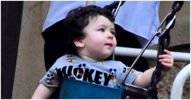 Taimur Ali Khan, Swinging In A Park
