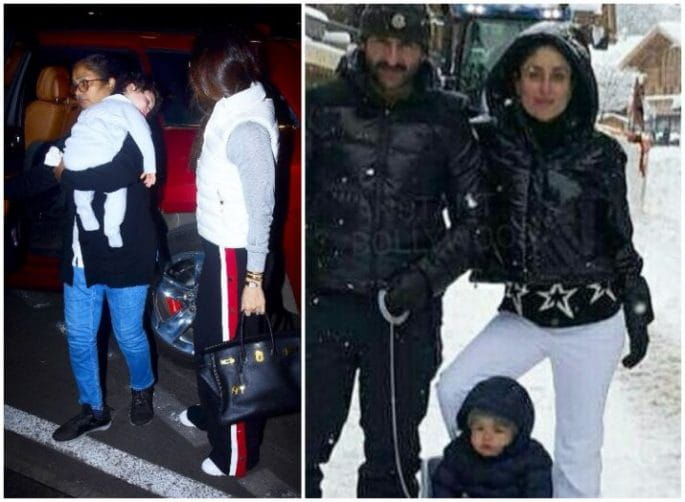 Latest Photo of Kareena, Saif & Taimur in Switzerland