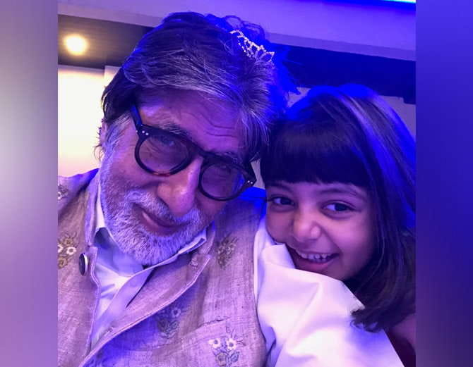 Amitabh Bachchan Shares Cute Pic With Aradhya
