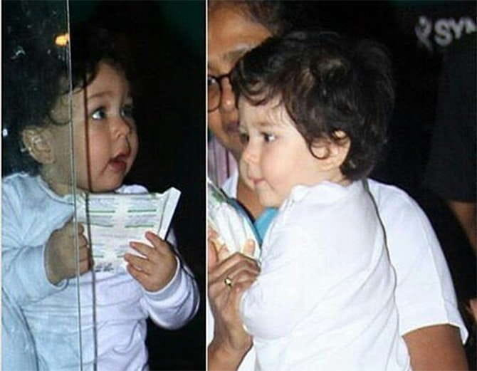 Taimur, Laksshya, enjoy at friend's birthday party