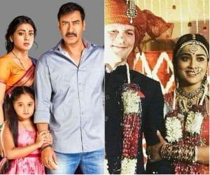 Marriage pics of Ajay Devgan's onscreen wife shriya saran