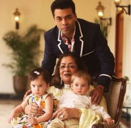 Karan Johar, Family pic, mother's birthday