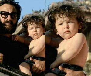 Shirtless pics of Taimur Ali Khan with Papa Saif