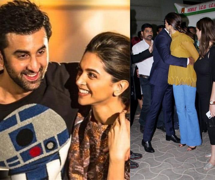 Ranbir Kapoor, hugs, Ex-girlfriend, Deepika Padukone