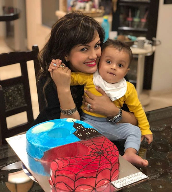 Karan Mehra, Nisha Rawal, celebrate, son's 10th month Birthday