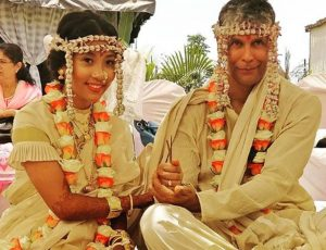 Milind Soman, Ankita Konwar, married couple, wedding pics