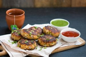Paneer-Potato-Peas Tikki, Party Snacks