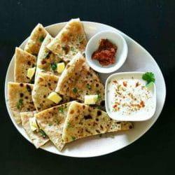 Aloo-Cheese Paratha