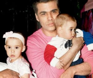Karan with his kids