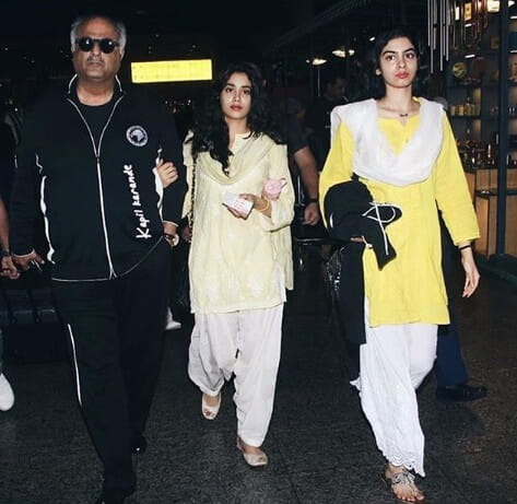 Jhanvi,Boney and Kushi Kapoor