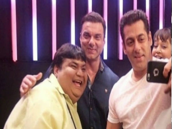 Dr Hathi with Salman Khan