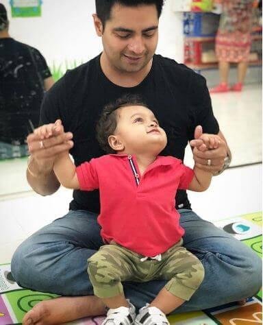Karan Mehra with his Son