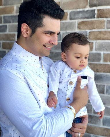 Pics of Karan Mehra's Son