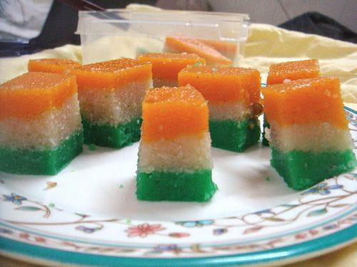 Tricolor Rava Dhokla