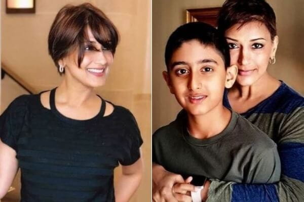 Sonali Bendre and Son