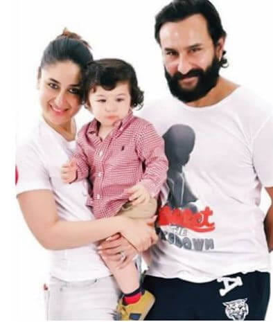 Taimur with family