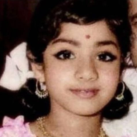 Sridevi Childhood Photo