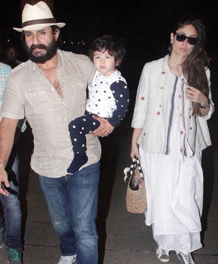 Taimur, Kareena Kapoor And Saif Ali Khan