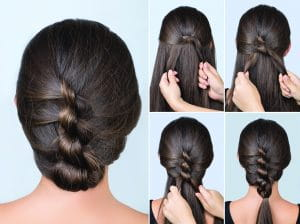 Knotted Sagar Hairstyle