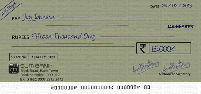 Cheque Transactions Mistakes