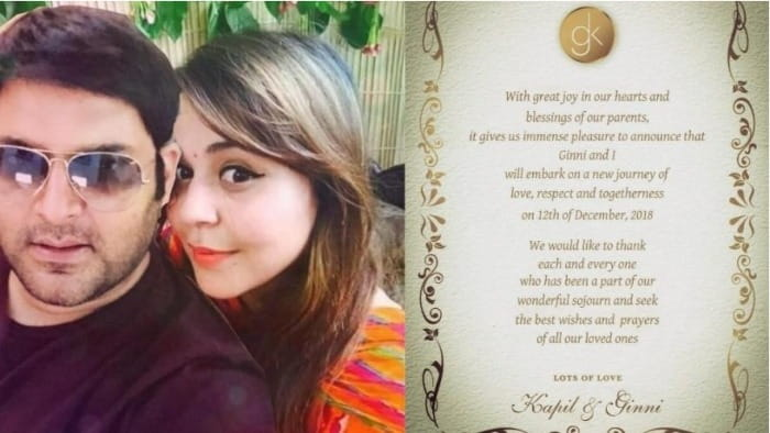 Kapil Sharma's Wedding Card