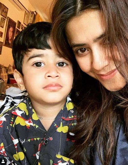 Ekta Kapoor With Her Son