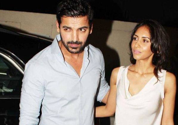 John Abraham With His Wife