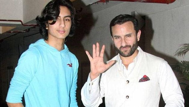 Saif Ali Khan With His Son Ibrahim