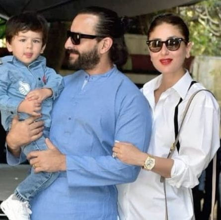 Kareena And Saif Ali Khan With Son