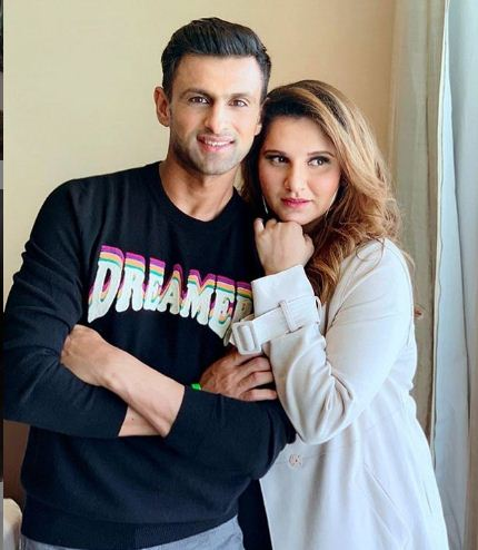 Sania Mirza With Husband Shoaib Malik