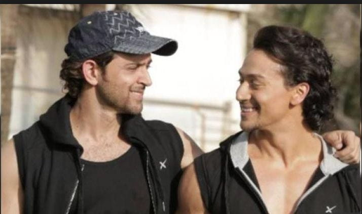 Hrithik Roshan With Tiger Shroff